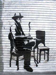 Fernando Pessoa stencil | Flickr - Photo Sharing!