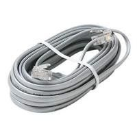 Steren 314-007SL 7-feet Modular Telephone Cord - UL Landline Telephone Accessory by Steren. $0.99. Flat modular cable, PVC jacket. Suitable for VoIP telephone applications . 26-gauge stranded conductors . Cross-wired for telephone-voice applications. UL version. Silver. 7'