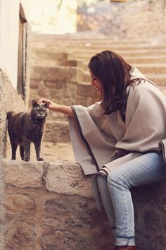 Fall mood and friendly cat :: Attitude at Rome