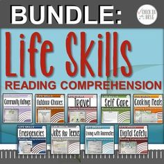 Life Skills High School Teach your life skills high school students functional academics through reading comprehension for special education. Life Skills Classroom, Teaching Social Skills, Classroom Ideas, High School Life, Middle School, Hygiene Lessons, Special Education Math, Vocational Skills, Jobs For Teens