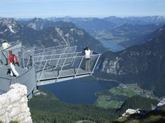 This is the Five Fingers Viewing Platform, above the Salzkammergut area in Austria