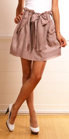 See by Chloe Blush skirt  So perfect for spring time at work. Receptionist clothes.