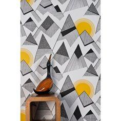 MissPrint Red Sun Mountains Wallpaper - MISP1048