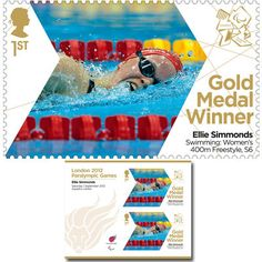 Large image of the ParalympicsGB Gold Medal Winner Miniature Sheet - Ellie Simmonds