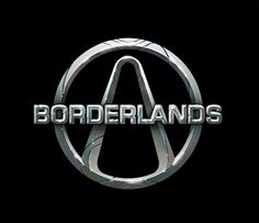 A logo of the video game Borderlands, made by 2k Games, available on PC, XBOX360 and PS3