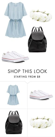 """xxx"" by xotrueox on Polyvore featuring Converse, Witchery and Forever 21"