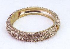 Great Sparkle Gold Pave Brangle Bracelet from Jim Ball