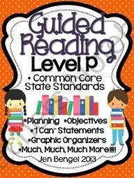 Cover EVERY third grade Reading Informational and Reading Foundational Common Core State Standard with this 147 page resource! Included are resources to help teachers plan, instruct, and assess students in a level P guided reading group. It covers 40 te