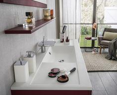 Meuble salle de bain en chªne blanchi Wood Delpha SDB