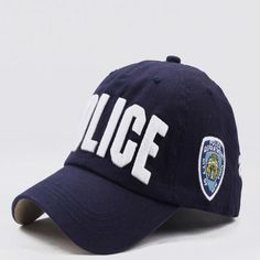 2248ecc38a2fc High quality unisex police cap hat baseball cap fashion comfortable  adjustable brand hats snapback caps
