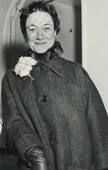 The Duchess of Windsor,  a perennial favorite on Best Dressed Lists in the 1950's.