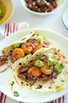 Shrimp Avacado Tacos