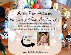 Bible Fun For Kids: Preschool Alphabet: A is for Adam
