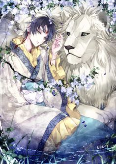 Anime Fanarts woooo que hermosa imagen - me encanta el león y esos colores y pequeños detalles
