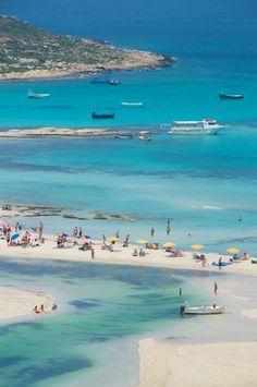Balos Bay, Gramvousa, Crete  Crete (Greek: Κρήτη Kríti; [kriti]) is the largest and most populous of the Greek islands.