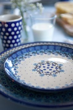 Bunzlau #maisonobjet #blue #plates