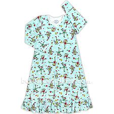 She will love the comfort and fun designs on this fabulous Christmas theme nightgown from Sara's Prints. Kids Christmas Outfits, Christmas Clothes, Christmas Themes, Toddler Pajamas, Holiday Pajamas, Weaving Process, Puff Sleeves, Collar And Cuff, Nightgown