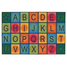 Kids Value Rugs Simple Alphabet Blocks Kids Rug$76 4x6