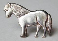 Vintage Scottish Sterling Silver Shetland Pony by SoCalJewelBox