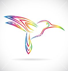Image of an hummingbird design vector by yod67 on VectorStock®
