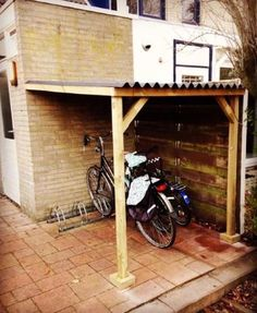 Here you can easily assemble, order and have your bike shed made to measure . - Here you can easily assemble, order and have your bicycle shed made to measure. You can choose from - Garden Bike Storage, Outdoor Bike Storage, Bike Storage Rack, Storage Shed Organization, Bike Storage Solutions, Bike Shelter, Range Velo, Bike Store, Bicycle Shop