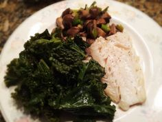 Cod, Kale, And Leeks With Mushrooms: 1/28/14