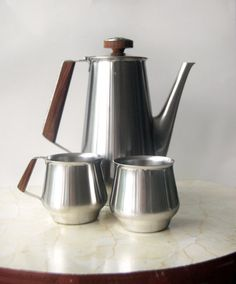 1970 International Decorator Stainless Coffee Set