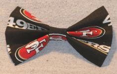 NFL San Francisco 49ers Hair Bow by TheRubyPigdotcom on Etsy