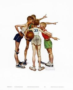 Oh, Yeah by Norman Rockwell art print