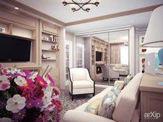 "квартира с нотками бирюзы от ""Vitta-group"": интерьер, квартира, дом, гостиная, 30 - 50 м2, романский, камин, печь #interiordesign #apartment #house #livingroom #lounge #drawingroom #parlor #salon #keepingroom #sittingroom #receptionroom #parlour #30_50m2 #romanesque #fireplace #stove arXip.com"