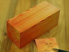 Sticky notes that look like they come from a block of wood. How awesome is that?!