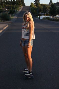 This is toats my style, I <3 skateboarding and longboarding :) and this style reminds me of summer :)