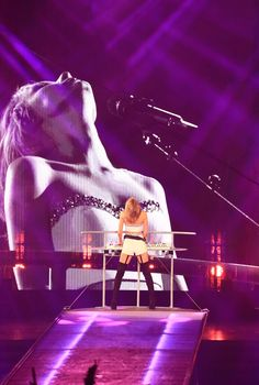 Taylor performing Love Story during the 1989 World Tour in Shanghai night one 11.10.15
