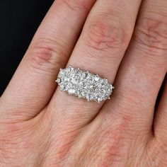 Antique Diamond Cluster Ring - not engagement, but an every other day ring