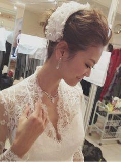 ウェディングドレスのヘアアレンジ #葛岡碧 #ウェディング #ウェディングドレス #wedding