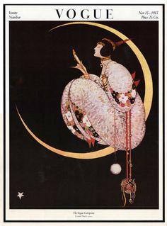 Vogue Magazine, November 1917. Illustration by George Wolfe Plank...