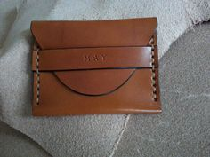 Genuine Leather Card Holder with flap by HeirloomLeather on Etsy, $59.00