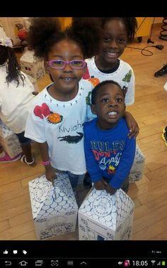 Kiviah, Malikhai with classmates at Build A Bear Florida Mall