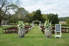 This is a lovely ceremony set up. We especially love the monograms on the wine barrels. Click the link to learn more about Arrington Vineyards and take a tour.   Image Credit: Arrington Vineyards Facebook.