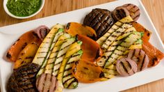 Grilled+Vegetable+Platter+with+Chimichurri+Verde
