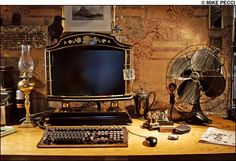 I love this desk!!  (Links to an interesting article on Steampunk: rebelling against soulless design)