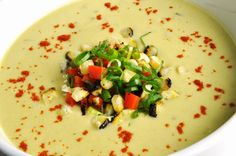 Creamy Zucchini Corn Chowder - a naturally dairy-free, gluten-free and vegan recipe filled with flavor and summer's bounty!
