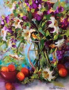 Oranges and Lilies by Nancy Medina Oil ~ 20 x 16 $425