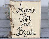 Bridal Shower Guest Advice Book Shabby Chic Wedding Decor