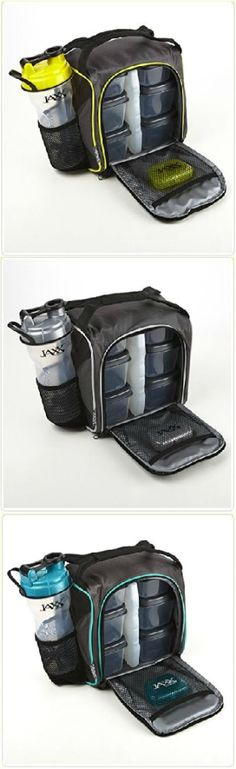 Cody Jaxx Pack with Portion Control Containers & Shaker Cup - The perfect way to fuel your day! Great for work or the gym. Now available in multiple colors. Click below to see more information and to browse the selection at www.Fit-Fresh.com #fitfresh