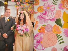 1970′s LoveFest Wedding: Carissa + Adam – Part 1   Green Wedding Shoes Wedding Blog   Wedding Trends for Stylish + Creative Brides