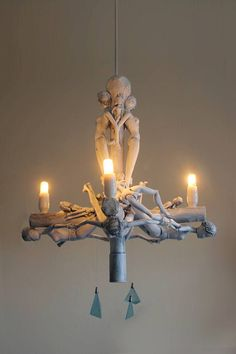 chandelier light recycle art lamp hanging pendant barbie white