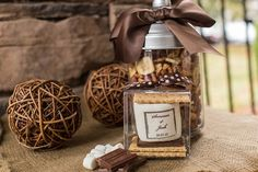 fall wedding favor ideas - s'mores kit to go (by fete setter) the hot apple cider is a cute favor too