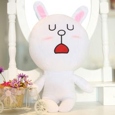 Looking for a cute and perfect gift for your girlfriend?  Line app sticker is now make into doll:      Measurement : 45CM  Selling @ only $45    Measurement : 30CM  Selling @ only $30  Interested parties sms/whatsapp bojan @ 97225757