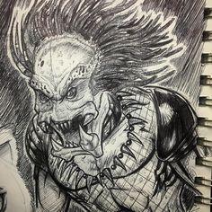 Sketch of the #predator #art #artist #sketch #sketchbook #instagood #instaart #instagram #darkhorsecomics #horror @aliensvspredator